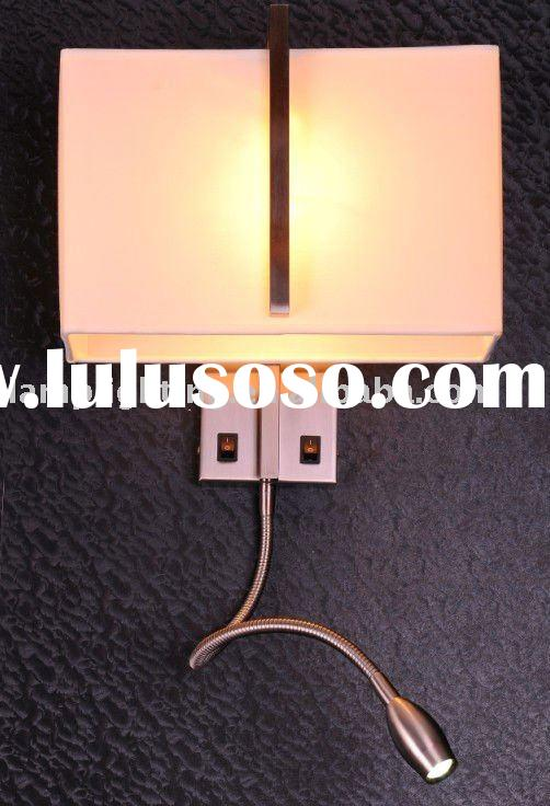 Bedside reading wall lamp with LED