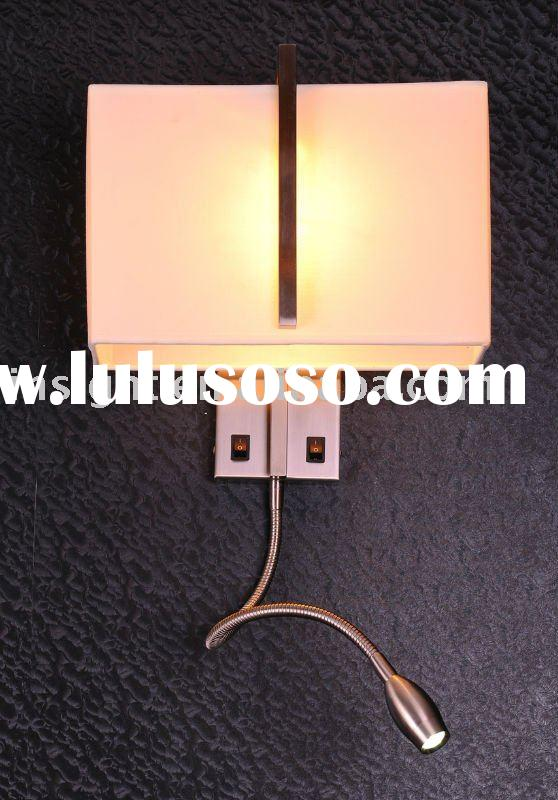 Bedside reading wall light with LED tail
