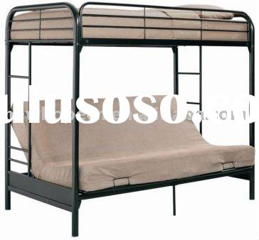 Black 058 Twin over Futon Bunk Bed
