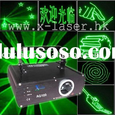 DJ club green animation  laser light show equipment