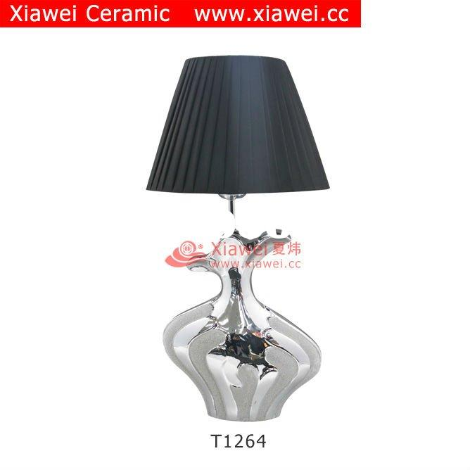 Fantasy Plated Ceramic & Pottery Bedroom Hotel Desk Lamp For Home Decoration Product
