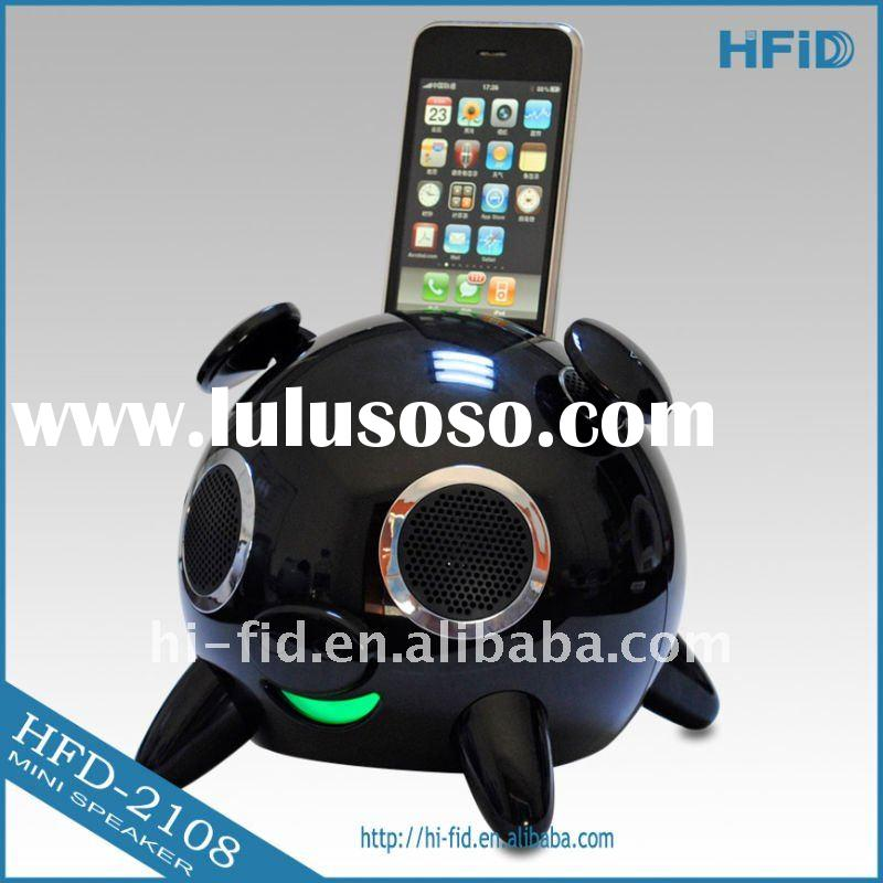 HIFI home theatre system speaker for ipod/iphone with FM, alarm clock