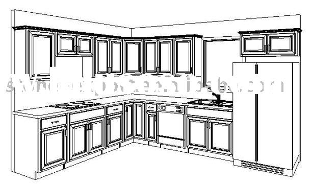 Kitchen Cabinets with Standard Size (CAD Drawing Cabinet)
