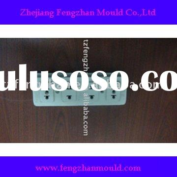Plastic electrical outlet molding