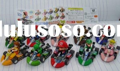 Power seller! Fashion super mario plush figure car PVC car toy (6pcs/set) A068 wholesale