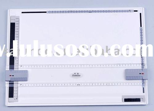 Rapid drawing board with clamp