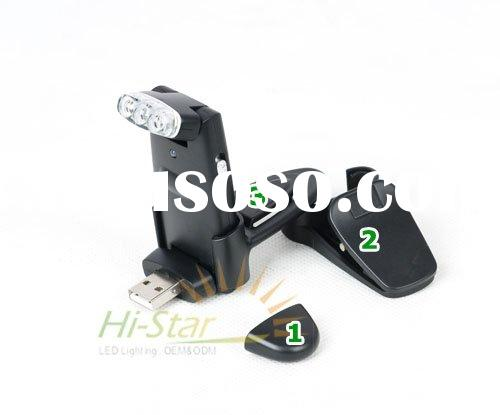 Rechargeable LED Reading Light with USB plug and Clip