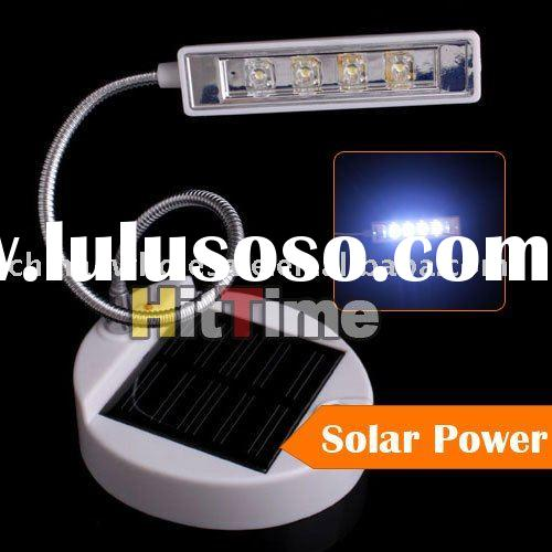 Solar Power Flexible Desktop 4 LED Reading Lamp Light