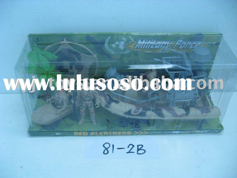 Special troops toy set with pulley