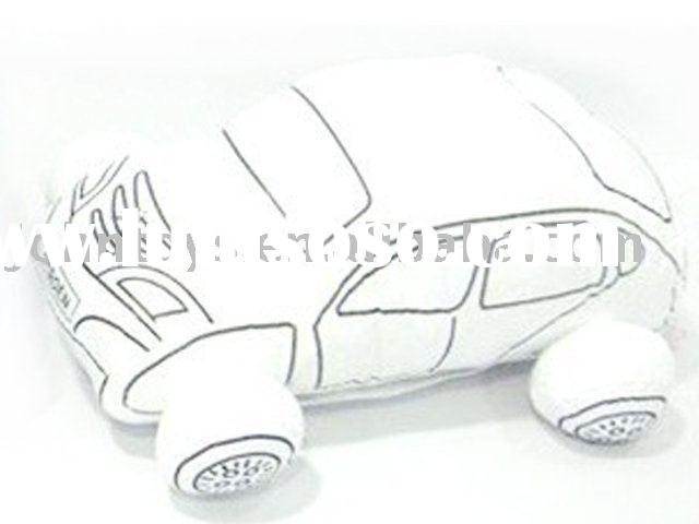 stuffed car for drawing with colorful pen