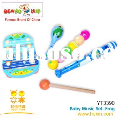 wooden music toys-Music Set-Frog
