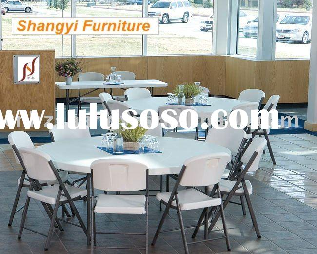 60*30 inch HDPE Plastic banquet round folding table