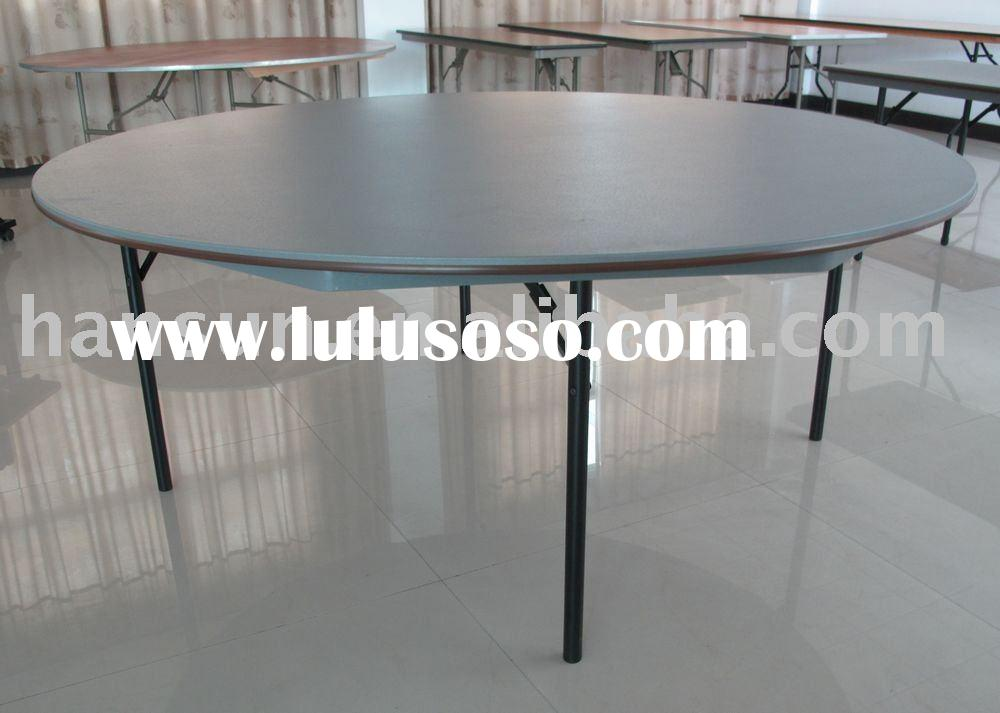 6 feet round ABS plastic folding table