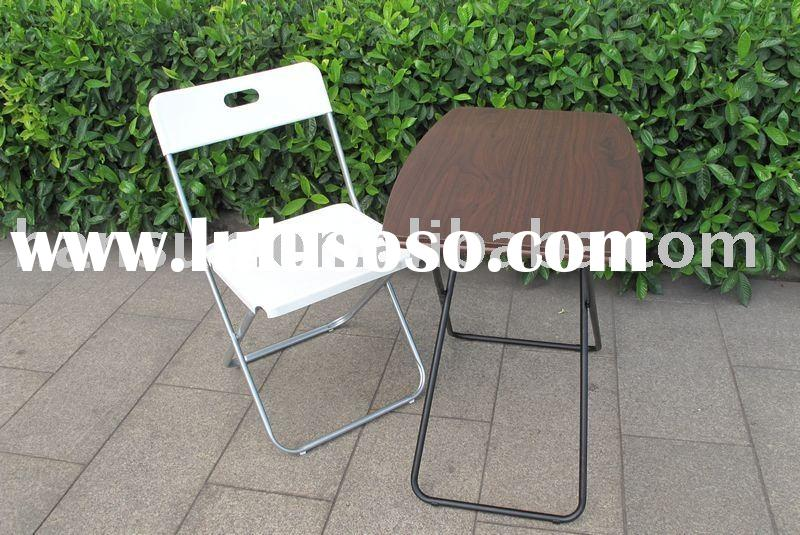 ABS plastic folding tables and chairs bistro set 6 foot rectangular grey table