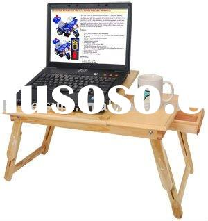 ADJUSTABLE COMPUTER LAPTOP/TABLE DESK/BED TRAY W/DRAWER