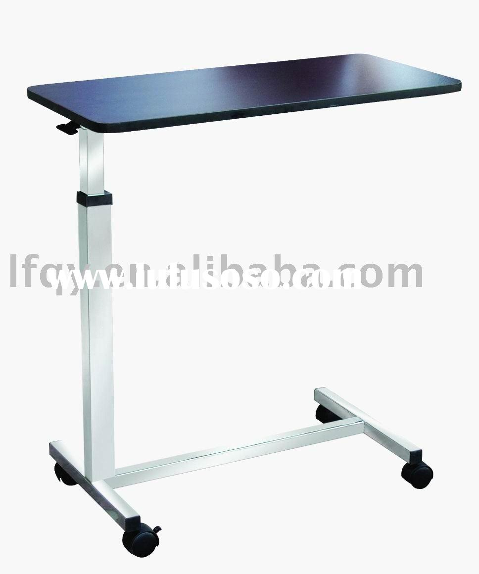 Adjustable hospital bed side table GCZ-3