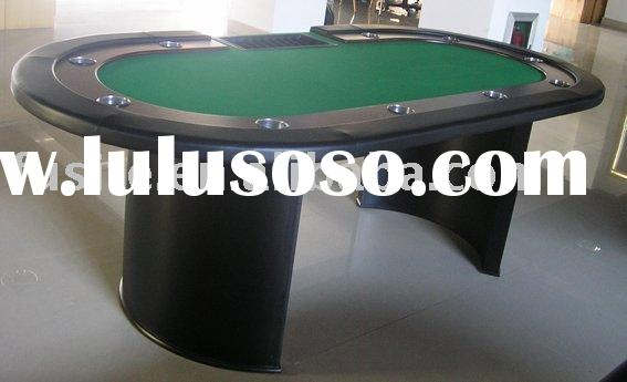 Casino Oval Poker Table with Stainless Cup Holders