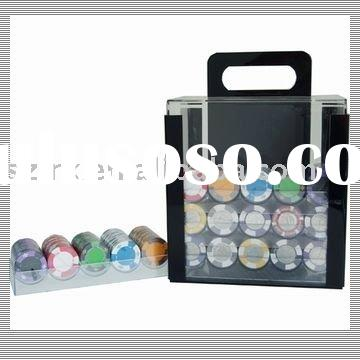Clear Poker chips set