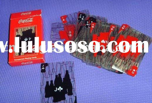 Coca cola plastic advertising pokers promotional  gifts