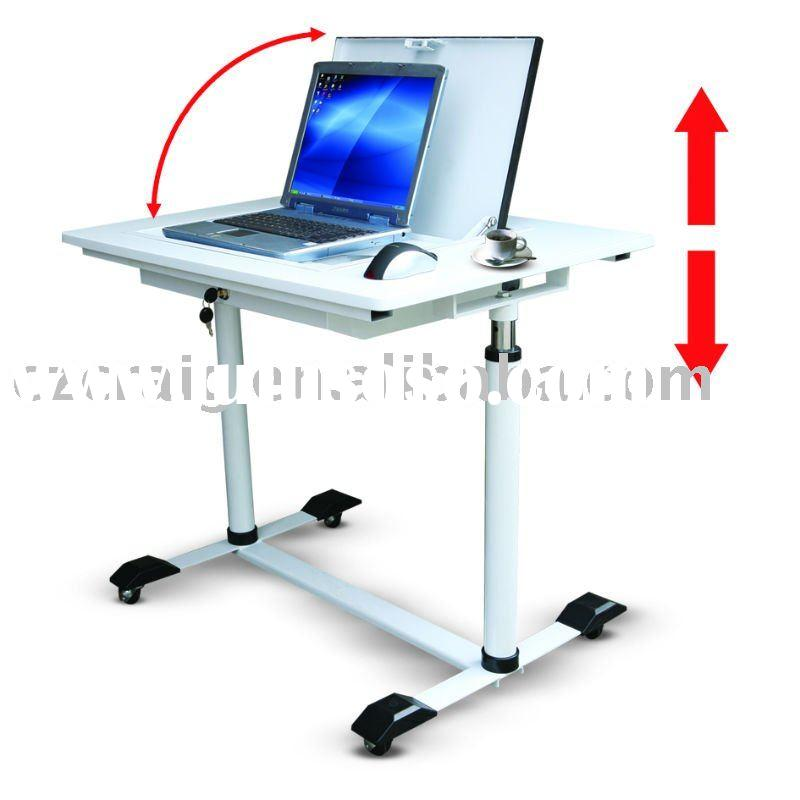 Flip Laptop Computer Desk With Height Adjustable