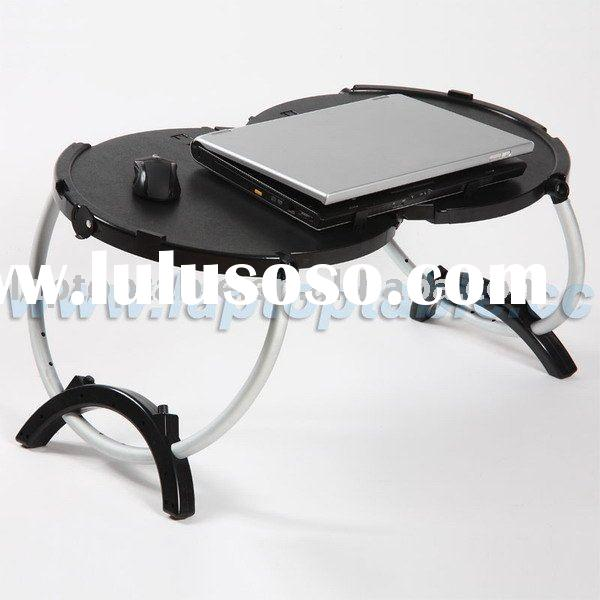 Foldable bed laptop table