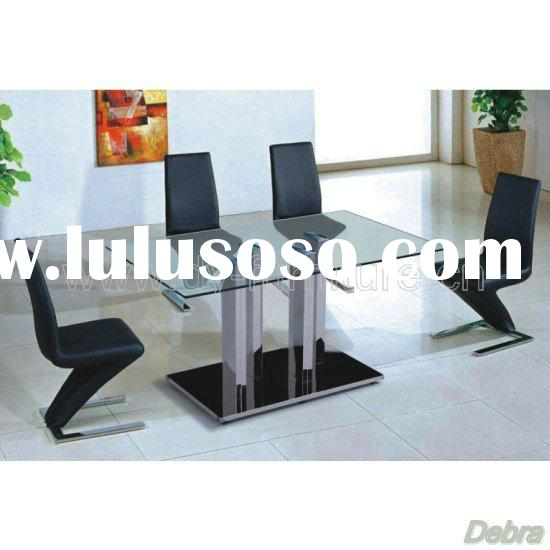 Lagos Rectangular Clear Glass Dining Table + 6 Z Chairs