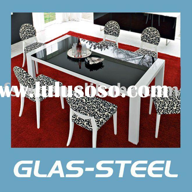 Modern Rectangle Glass Dining Table WC-BT171