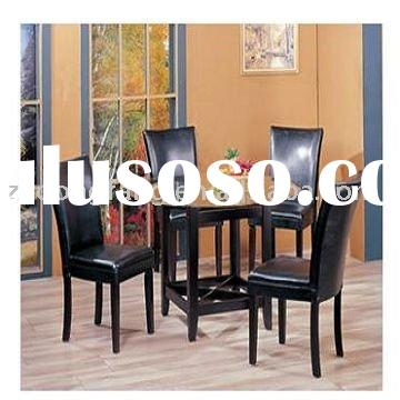 Modern leisure black dining table&dining chair
