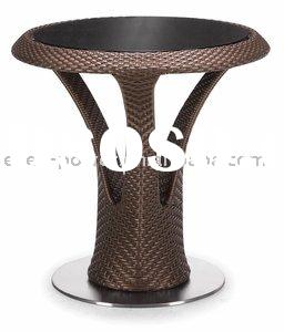 Outdoor Furniture Round rattan mushroom dining table