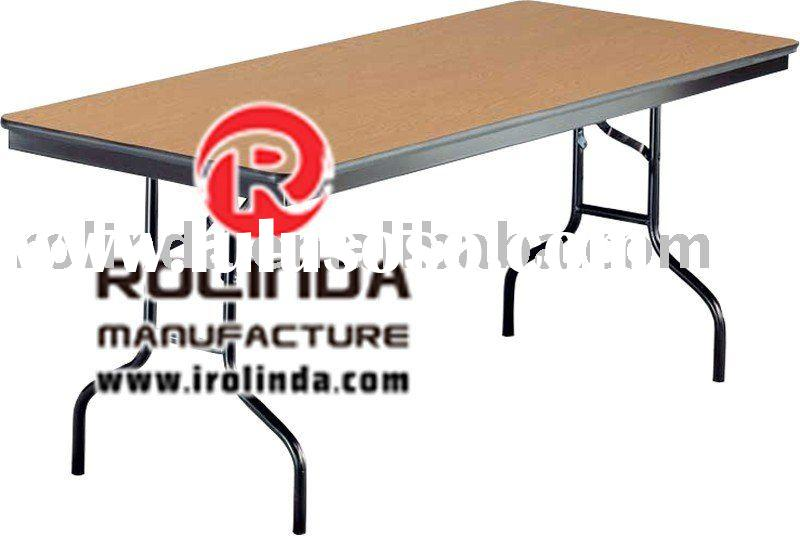 Plywood Folding Table,Hotel Furniture