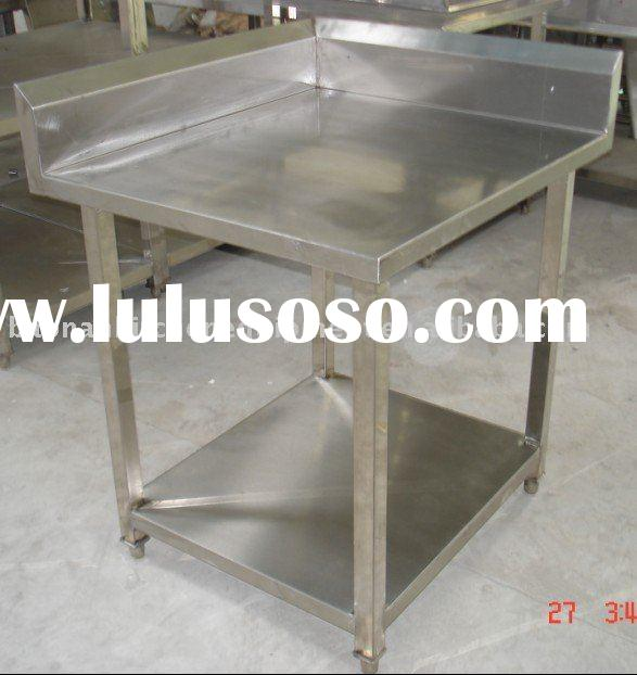Quadrangle Stainless steel small kitchen table for restaurant