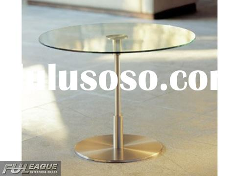 ROUND DINING TABLE, COFFEE DINING TABLE, TEMPERED GLASS DINING TABLE, DRAW POLISHED DINING TABLE, CL