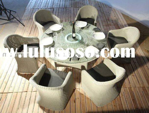 Rattan Table chairs - Round Rattan dining set