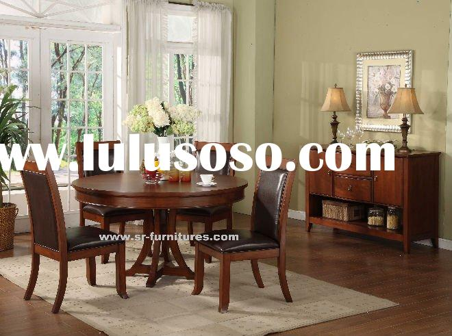 Small Round Antique Dining Room Set