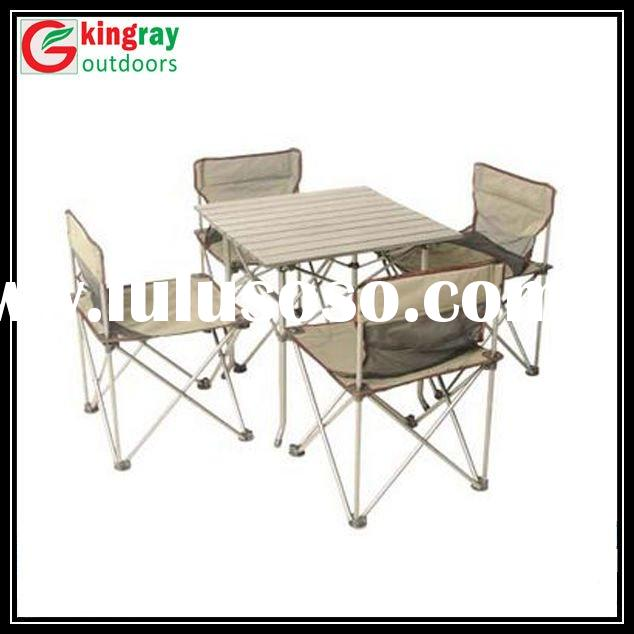 Small fold up table and chair