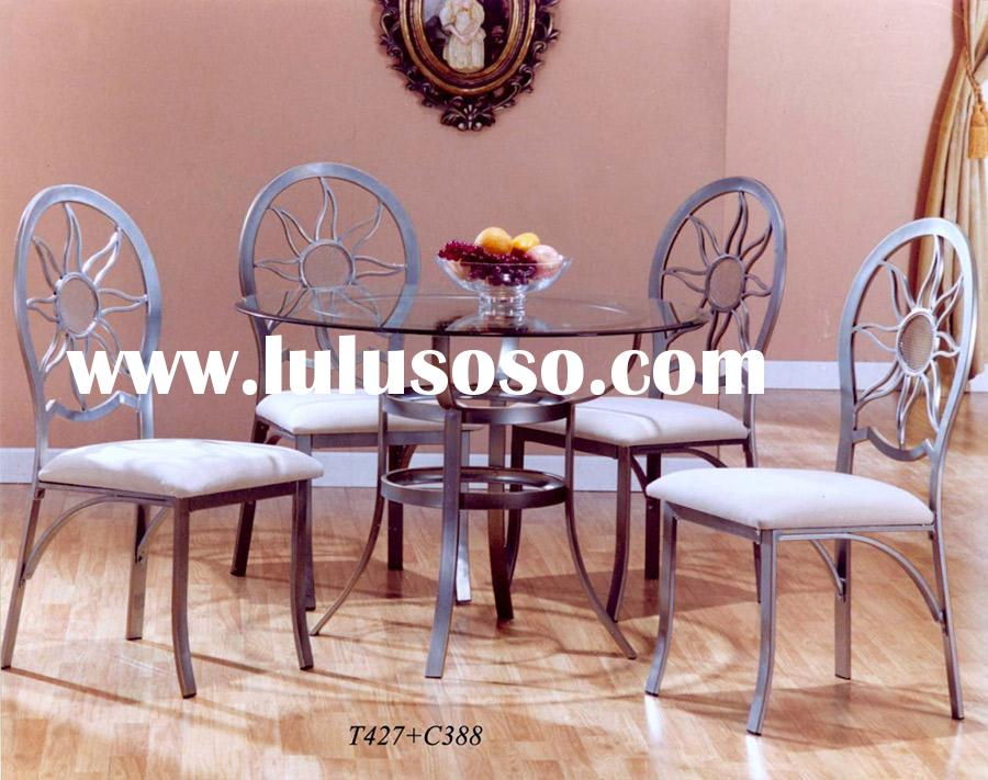 T-427 round glass dining table