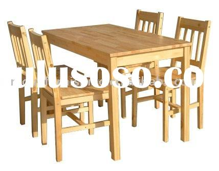 UCF0057 Solid Pine Wood Dining Table 1+4