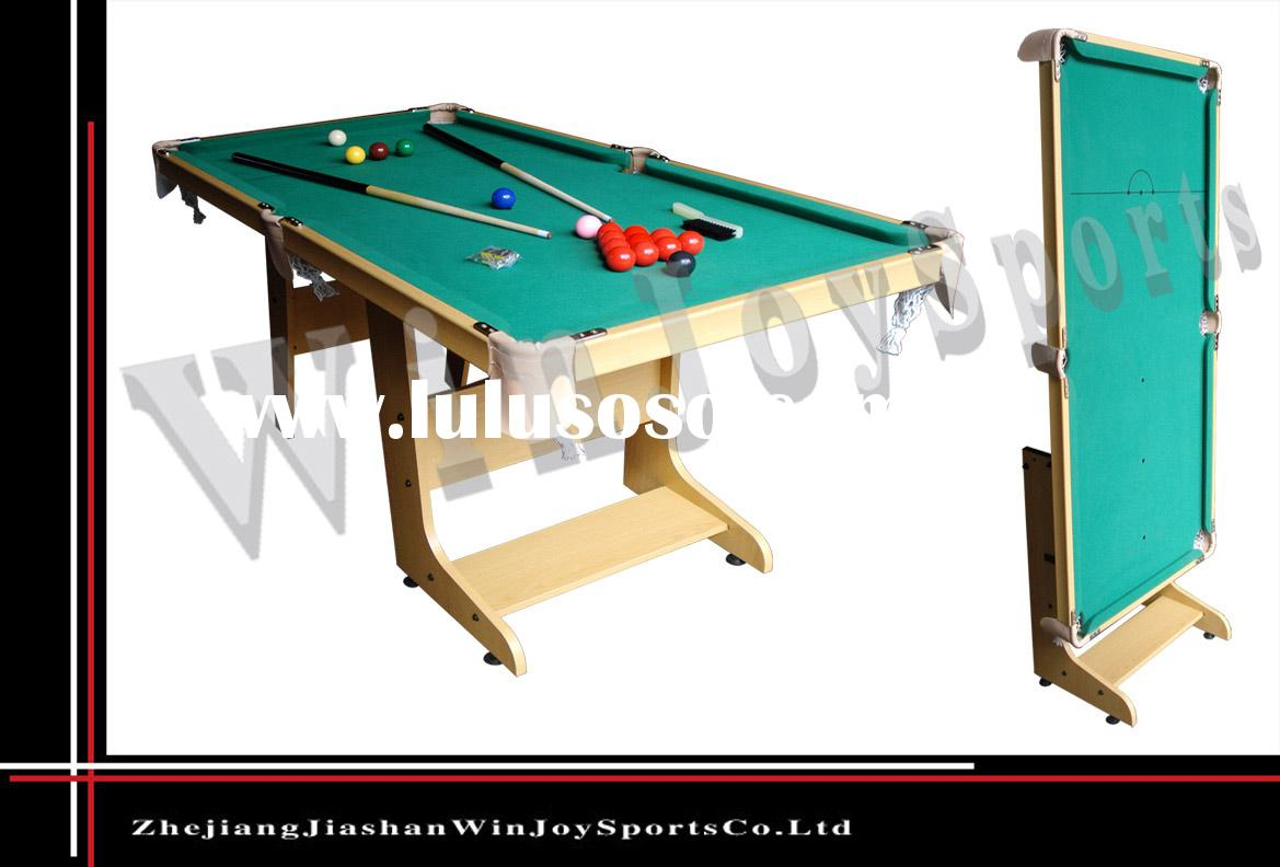 WJ-P-027  5ft snooker table with folding legs,billiard table,pool table