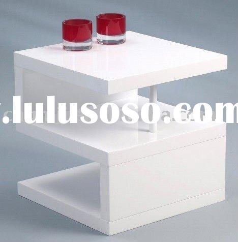 White Wooden Coffee Table #QJ-017