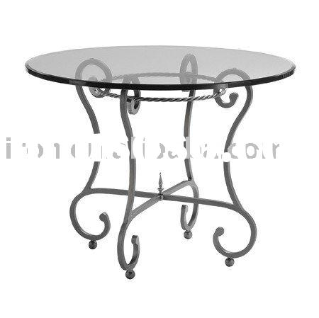 Wrought iron round coffee table