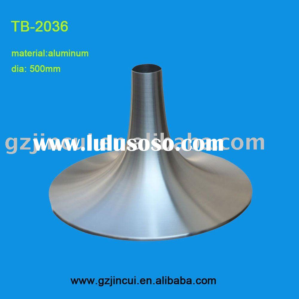 """20""trumpet aluminum dining  table base pedestal"