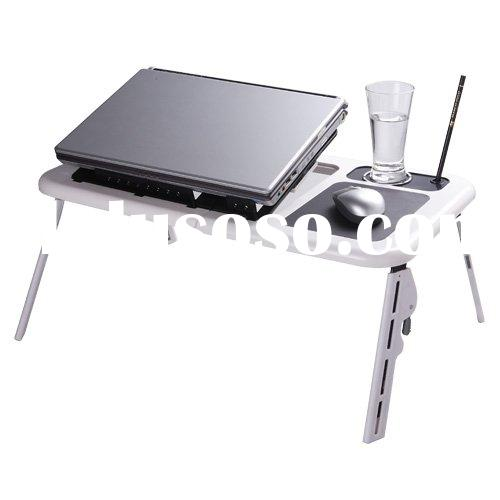 bed table with two fans and USB for laptop
