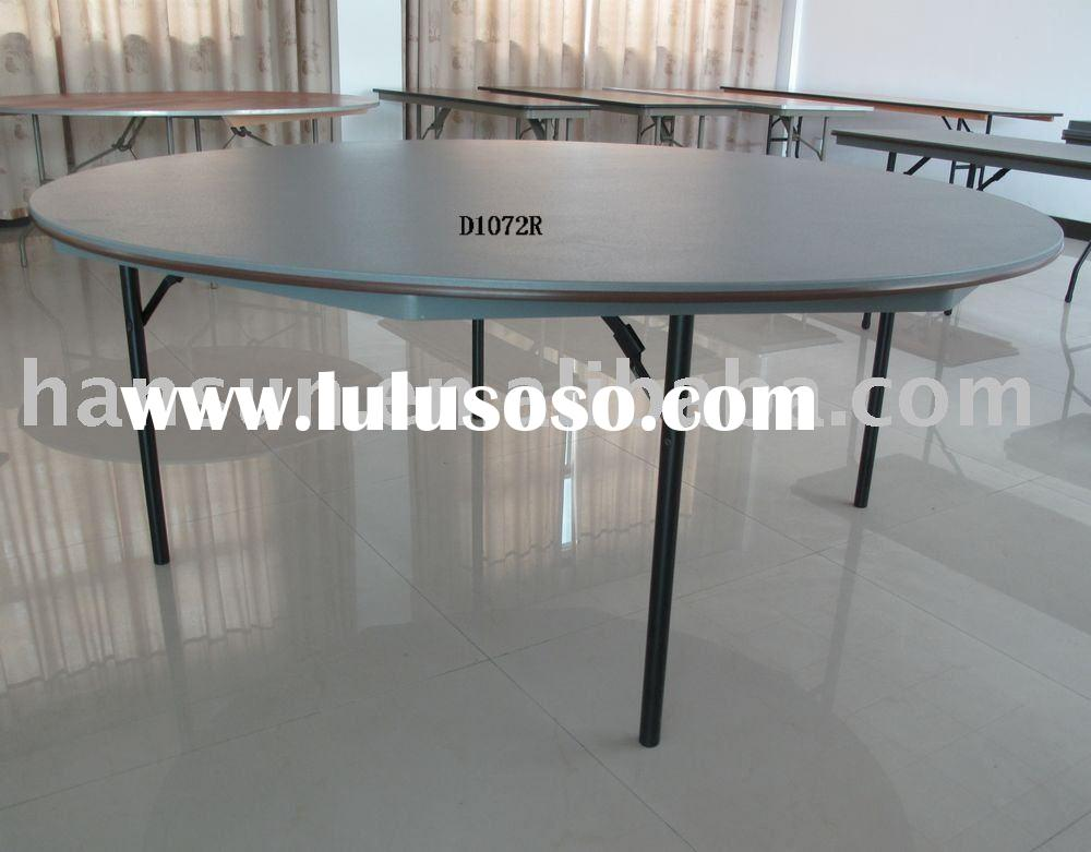 "blow molded table sub ABS plastic folding table72""round"