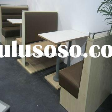 cafe wood frame leather dining booth seating