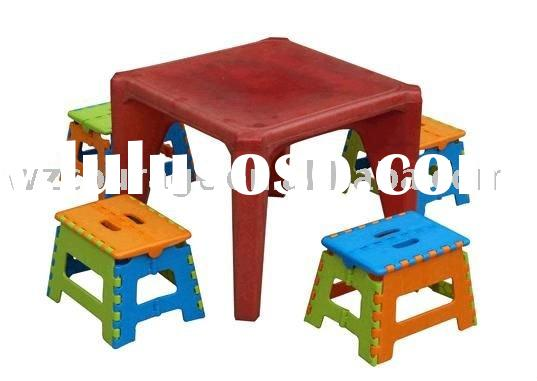 children furniture plastic kids folding table and chair
