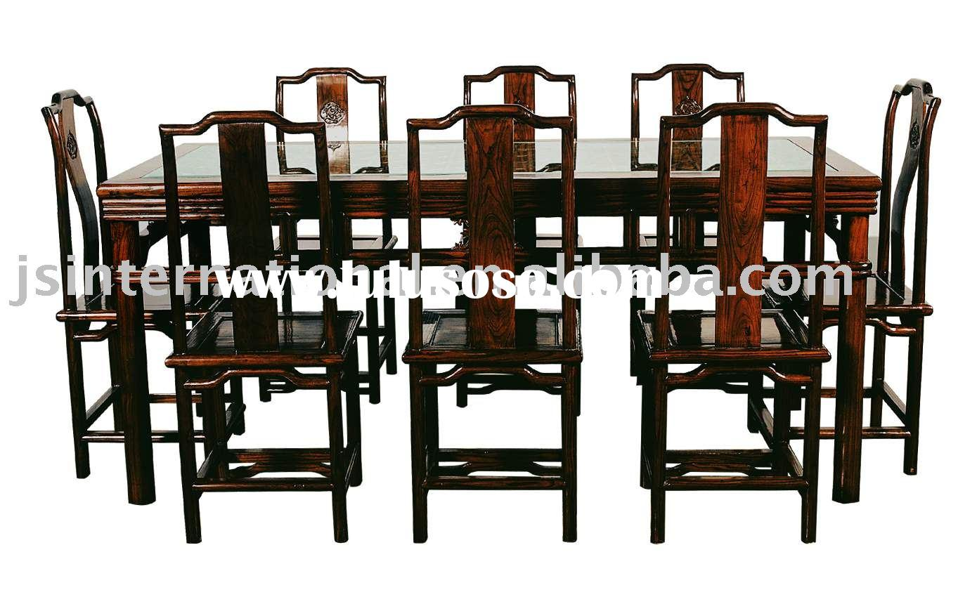 chinese antique furniture dining table and chairs