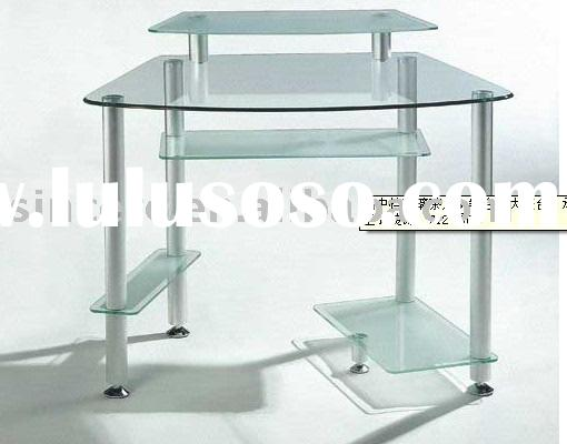 computer desk/tempered glass computer table