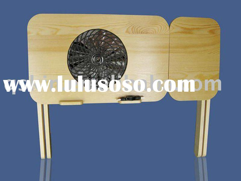 foldable notebook Solid Wood cooling desk/table