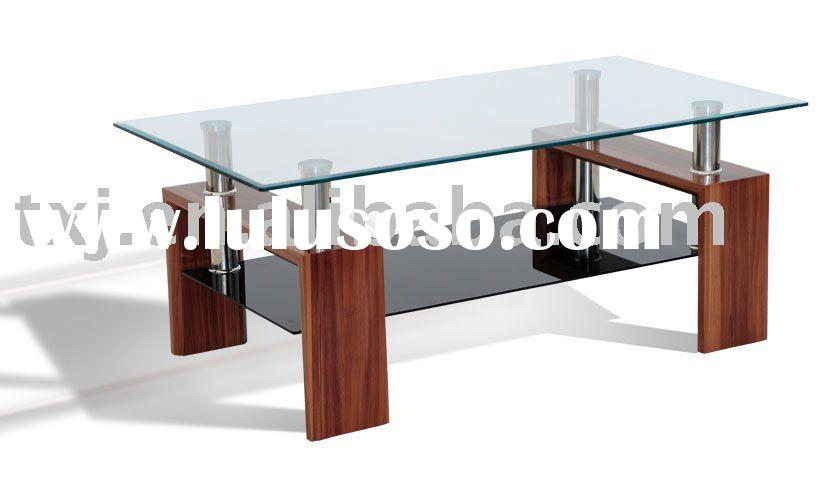 Glass And Wood Coffee Tables