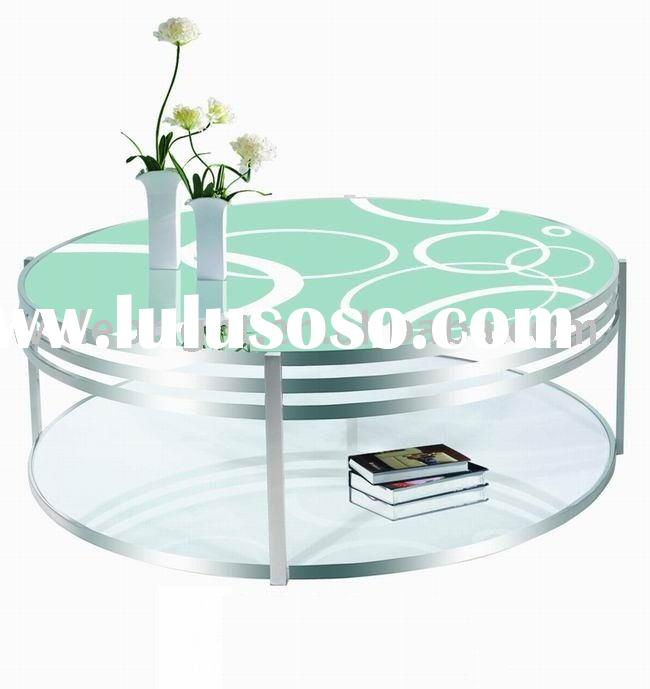 glass round coffee table